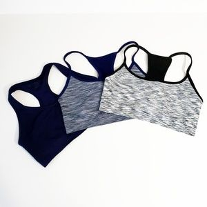 Lot of 3 Danskin Sports Bras